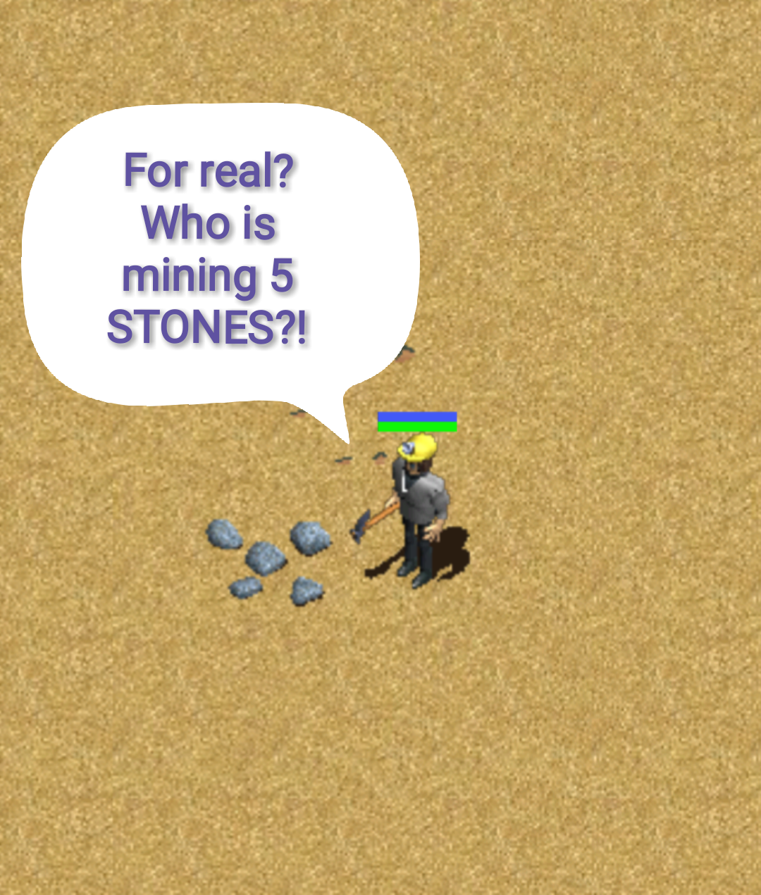 Taking stones from a stone...
